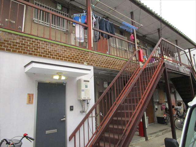 塗装後の外部階段