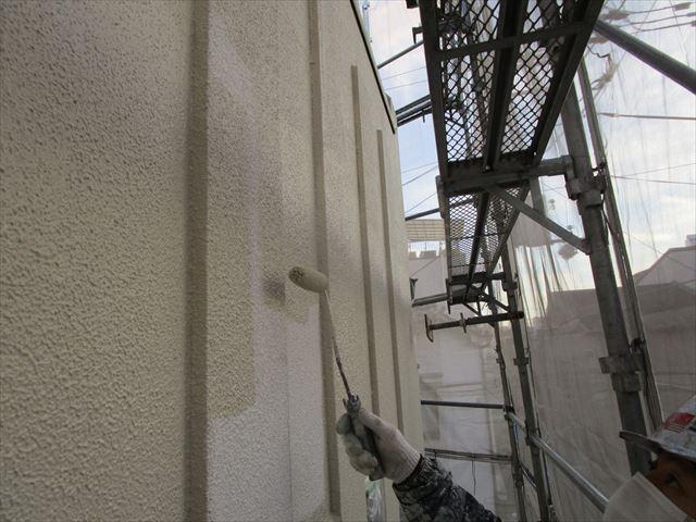 リシン壁 中塗り