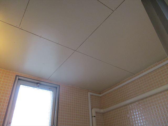 塗装後風呂天井