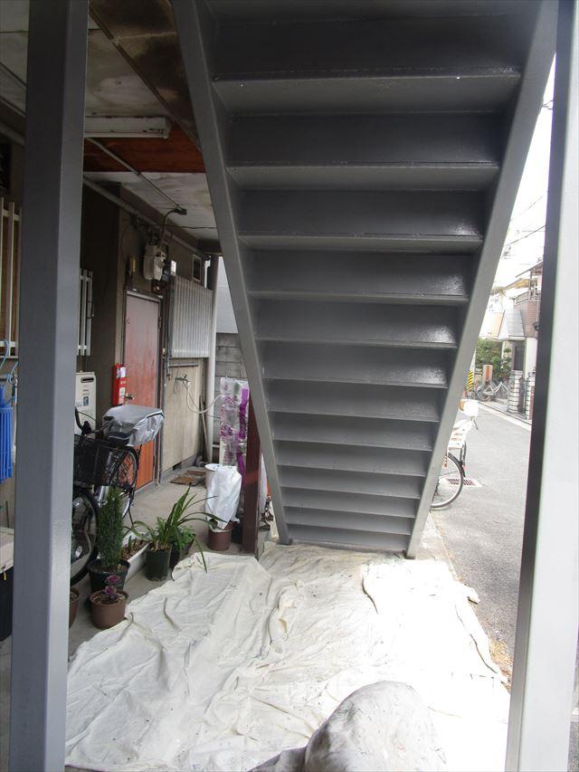 階段裏錆止め