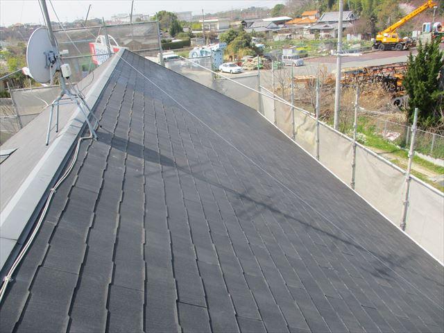 シーラーをしたスレート屋根