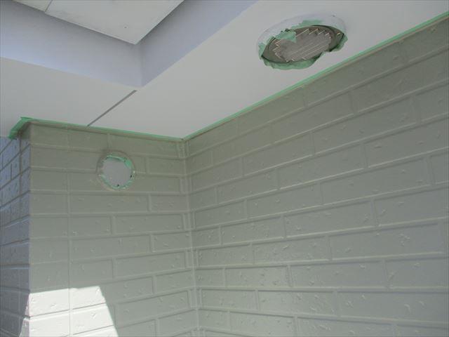 軒天井と壁の取り合い