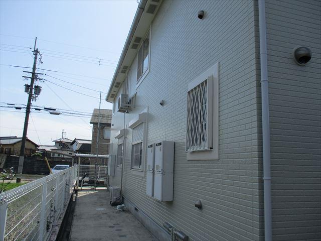 塗装後の入口裏側