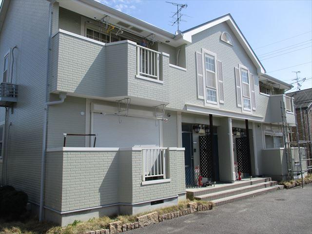 塗装した集合住宅
