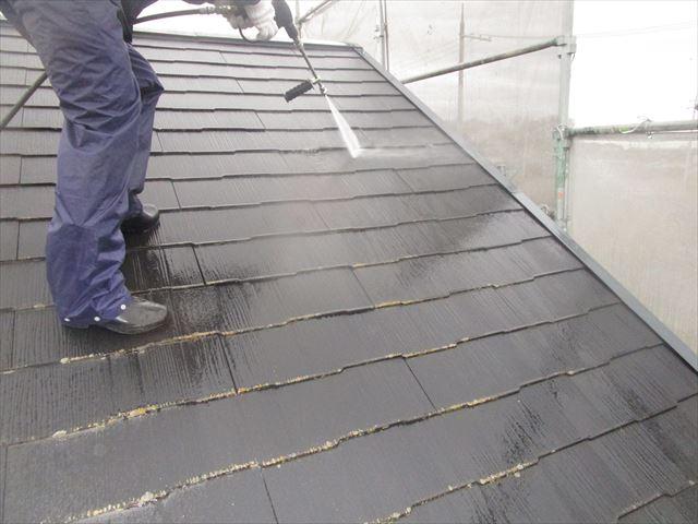 スレート屋根洗浄