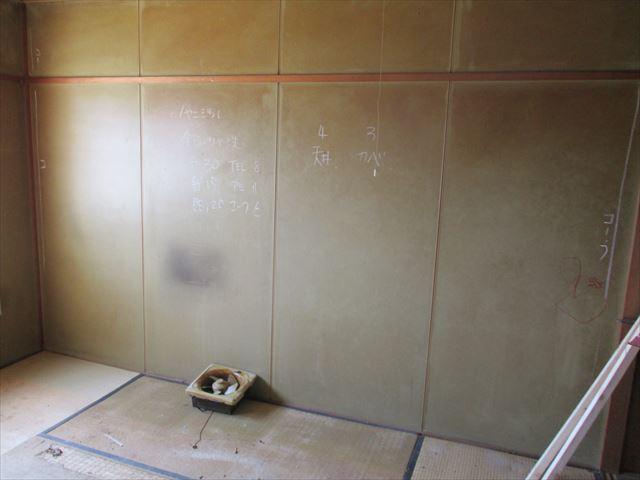 塗装前の和室のパネル