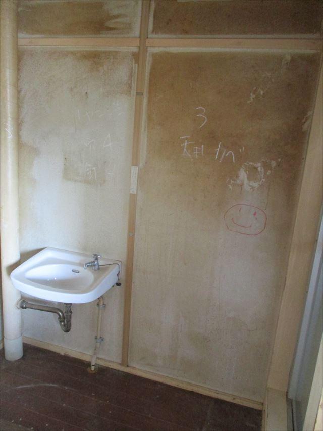 洗面所の壁