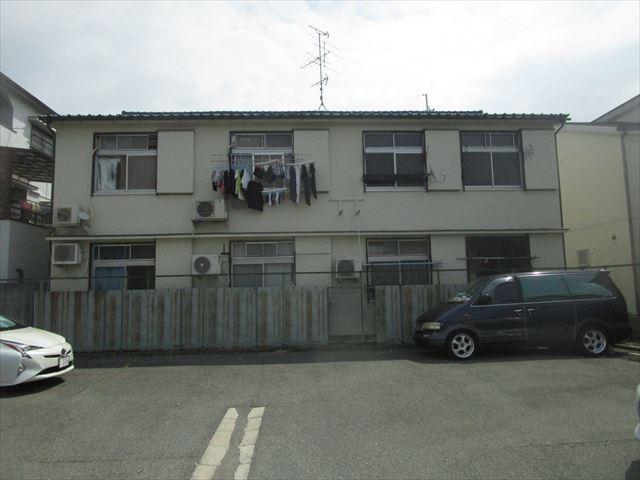 塗装したアパート