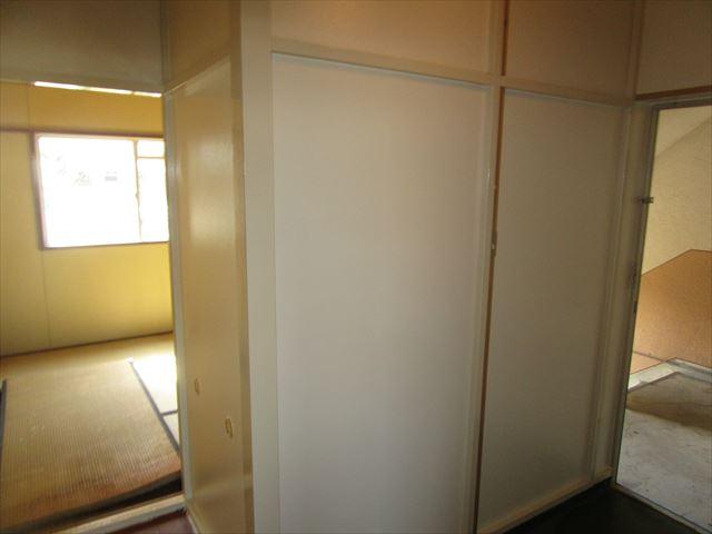 塗装後の玄関パネル