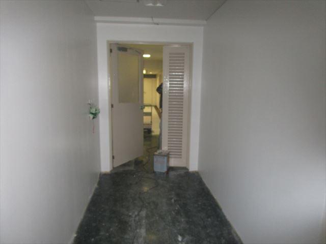 塗装後の鉄扉