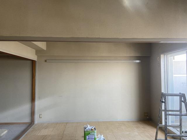 大阪市鶴見区の集合住宅の空き室で和室を洋室にする塗装を行いました