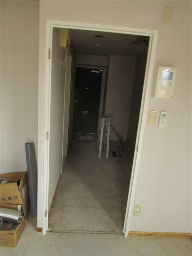 塗装後の入口枠