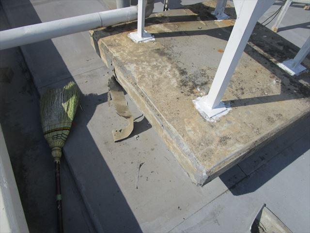 架台上部の清掃