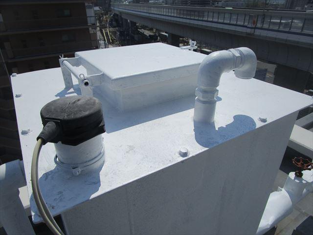 錆止めした消火補給水槽