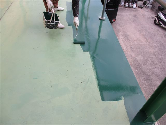 物置き床の保護膜塗装