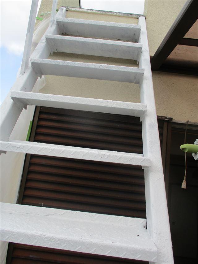 外部階段の錆止め