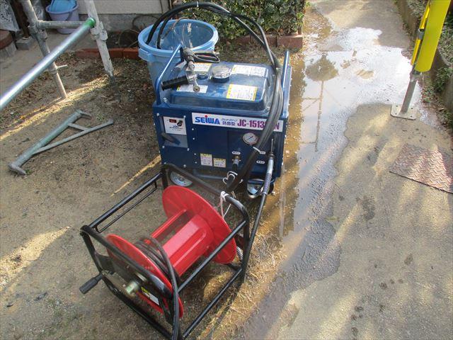 高圧洗浄機とホース