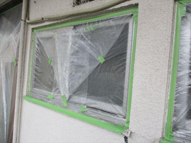 養生し終えた窓
