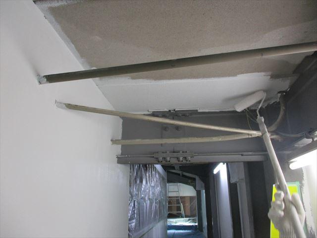 天井ALC塗装