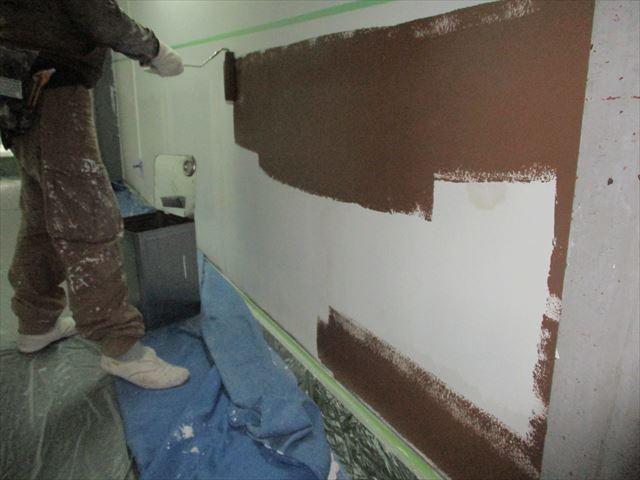 ローカ下段の塗装