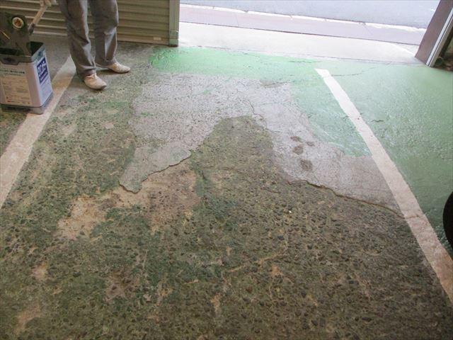 大阪市鶴見区で事務所の床防塵塗装工事をおこないました。