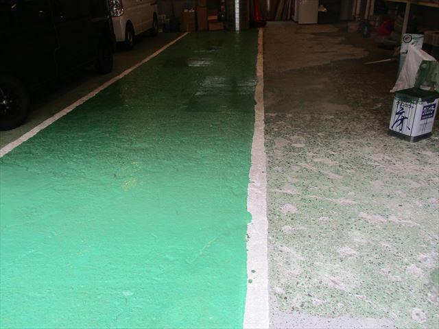 大阪市鶴見区で事務所床の防塵塗装工事をおこないました。