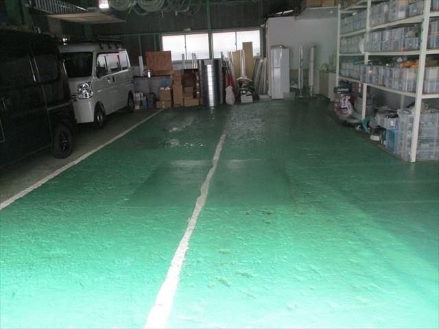 床防塵2度塗り