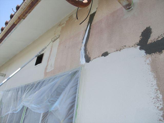 奈良市で平屋建ての外壁塗装工事をおこないました。