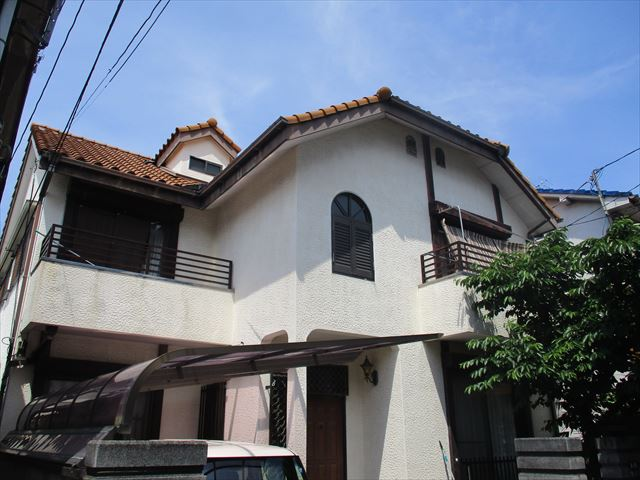 大阪市都島区で外壁塗装工事の見積もり調査にうかがいました。