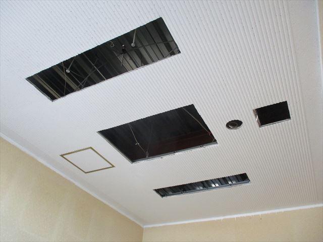 リブ天井塗装