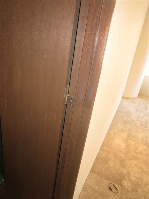 扉のクリアー塗装