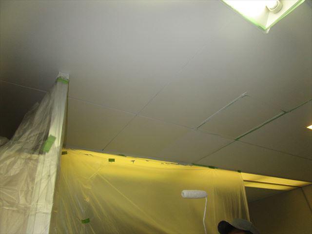 天井ボード上塗り